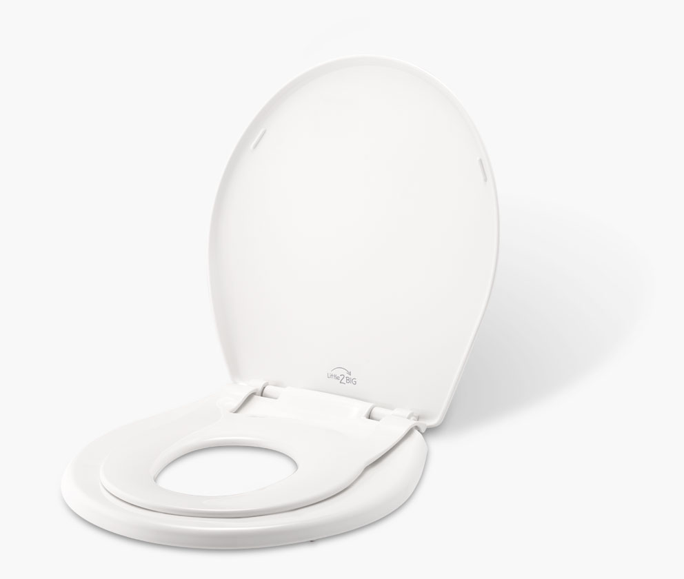 Round Slow Close White Toilet Seat With Built In Potty Training Seat Ideal 2 In 1 Toilet Seat For Child Adults Potty Training Kolenik Seat Covers